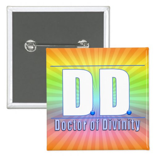 Doctor de la DD del LOGOTIPO de las siglas de la d Pin Cuadrada 5 Cm