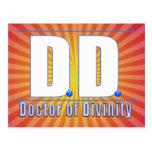 Doctor de la DD del LOGOTIPO de las siglas de la d Postales