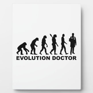 Doctor de la evolución placas de plastico