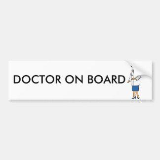 Doctor de la mujer pegatina de parachoque