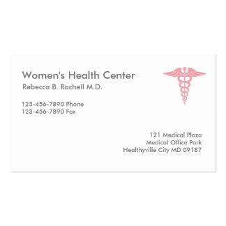 Doctor de la salud de las mujeres tarjetas de visita