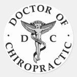 Doctor de los pegatinas del logotipo de la pegatina redonda