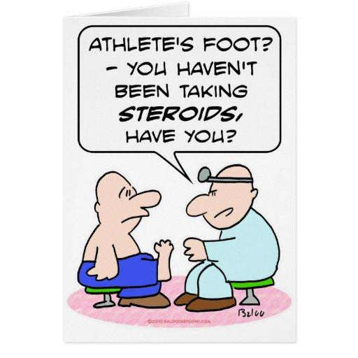 doctor de pie de atletas de los esteroides tarjeta de felicitación