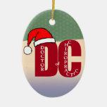 Doctor de Santa DC del logotipo del navidad de la Adorno Ovalado De Cerámica
