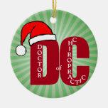 Doctor de Santa DC del logotipo del navidad de la Adorno Redondo De Cerámica