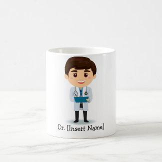 Doctor de sexo masculino trigueno personalizado tazas