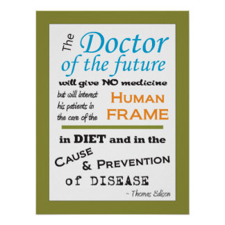 Doctor de Thomas Edison del poster futuro