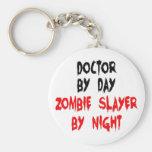 Doctor del asesino del zombi llavero redondo tipo pin