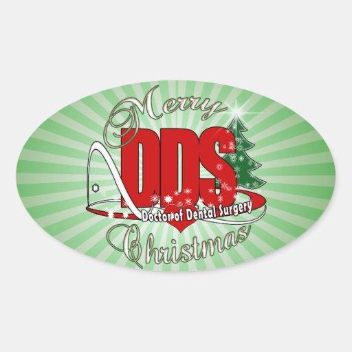 Doctor del DDS del NAVIDAD de la cirugía dental Pegatina Ovalada