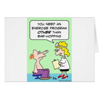 doctor del ejercicio de la lupulización de la barr tarjetas