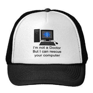 Doctor del ordenador gorros bordados
