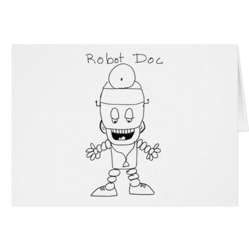 Doctor del robot tarjeta de felicitación