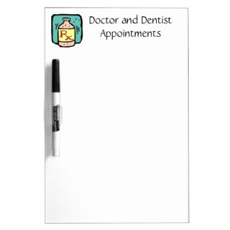 Doctor Dentist Medical Appointment Listings Dry Erase Board