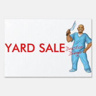 Doctor Diego Yard Sale Sign
