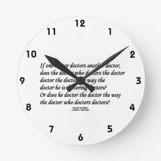 Doctor Doctoring Another Doctor (Tongue Twister) Wall Clocks