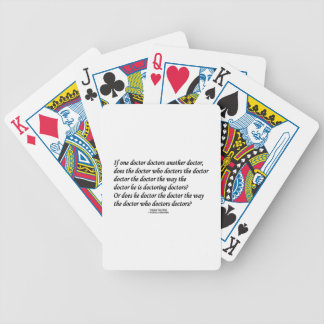 Doctor Doctoring Another Doctor (Tongue Twister) Bicycle Poker Cards