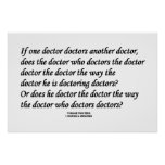 Doctor Doctoring Another Doctor (Tongue Twister) Poster