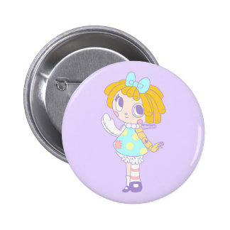 Doctor Dolly the Make you Feel Better Doll. Pinback Button
