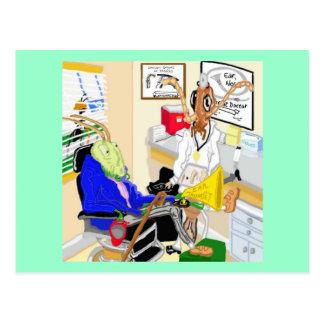 Doctor Earwig Helmud And The Deaf Cricket Postcard