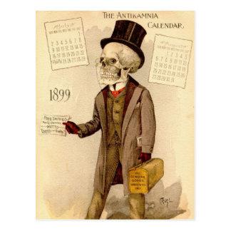 Doctor esquelético tarjeta postal