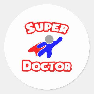 Doctor estupendo pegatina redonda
