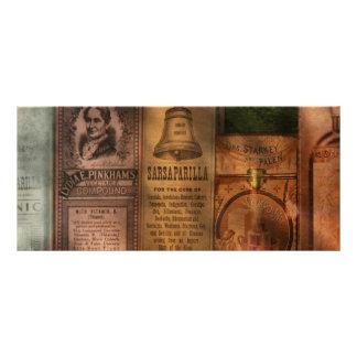 Doctor - extractos y zarzaparrilla del compuesto tarjetas publicitarias a todo color