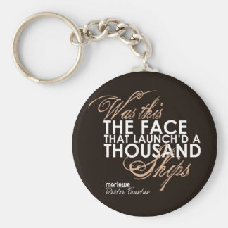 Doctor Faustus Quote Basic Round Button Keychain