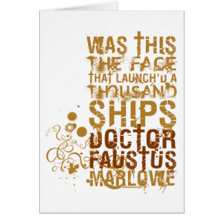 Doctor Faustus Quote Greeting Card