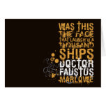 Doctor Faustus Quote Greeting Cards