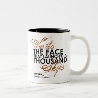 Doctor Faustus Quote Two-Tone Coffee Mug