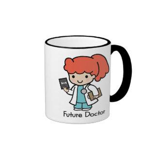 Doctor futuro - chica taza de dos colores