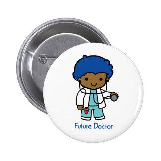 Doctor futuro - muchacho pin redondo de 2 pulgadas