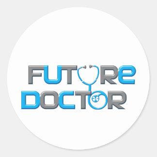 Doctor futuro pegatina redonda