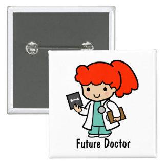 Doctor futuro pin cuadrado
