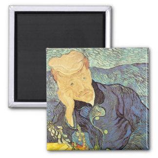 Doctor Gachet Portrait by Vincent van Gogh 2 Inch Square Magnet
