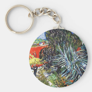 Doctor Gauchet`s Garden in Auvers Vincent van Gogh Basic Round Button Keychain