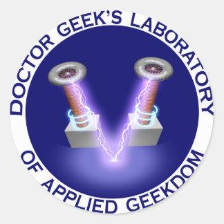 Doctor Geek's Laboratory Logo Stickers