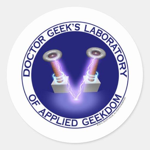 Doctor Geek's Laboratory Logo Sticker