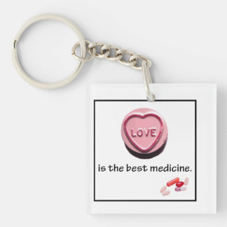 doctor gift love is the best keychain
