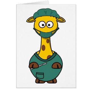 Doctor Giraffe Card