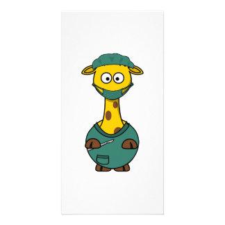 Doctor Giraffe Photo Card