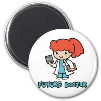 Doctor (girl) 2 inch round magnet