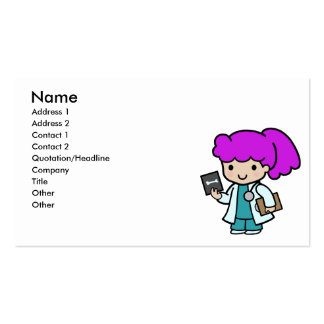 Doctor Girl Business Card Templates