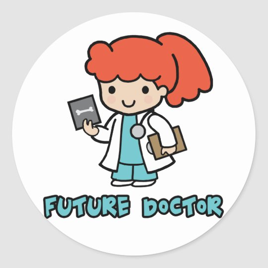 Doctor (girl) classic round sticker