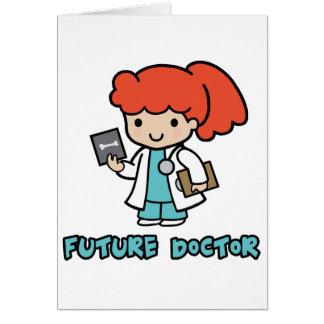 Doctor (girl) greeting card