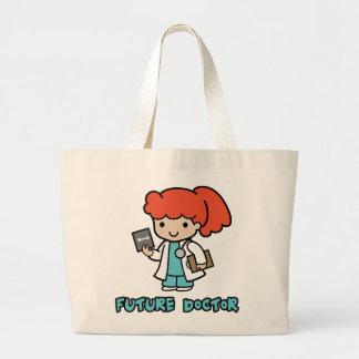 Doctor (girl) large tote bag