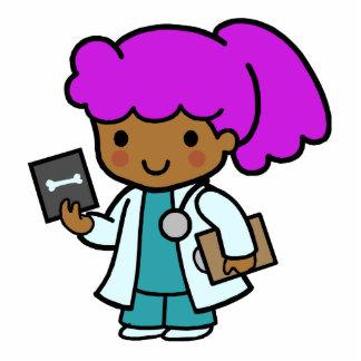 Doctor Girl Standing Photo Sculpture