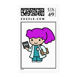 Doctor Girl Stamps