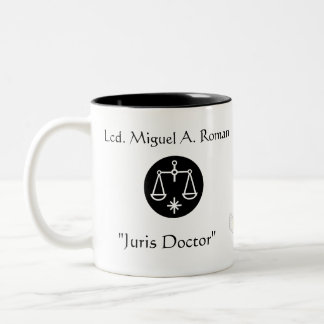 """Doctor "" Gracias-Personalizar de Juris Taza De Dos Tonos"