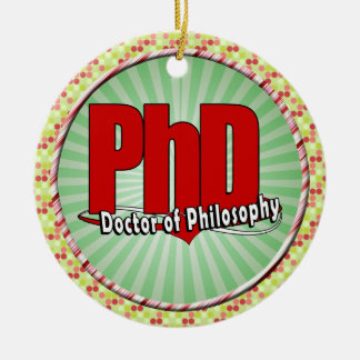 DOCTOR GRANDE del PhD del ROJO del LOGOTIPO de la  Adornos